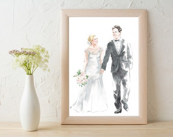 Custom Wedding Portrait (A4)