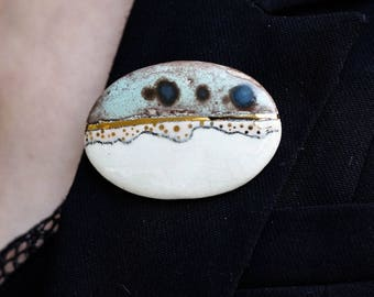 Mirage Ceramic Brooch