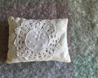 Lavender sachet with vintage doily