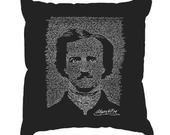Throw Pillow Cover - Word Art - Edgar Allen Poe - The Raven