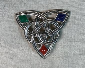 Celtic Knot Irish Brooch Sol d'or