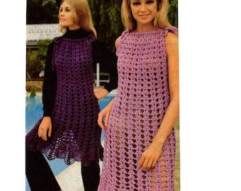 Vintage Crochet Womans Dress