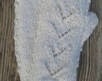 KNITTING PATTERN PDF - Greta fingerless gloves/ lace mitts / arm warmers / wrist warmers pattern