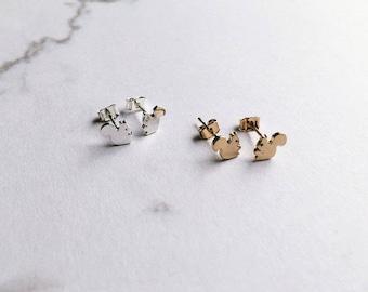 Earrings gold squirrel earrings