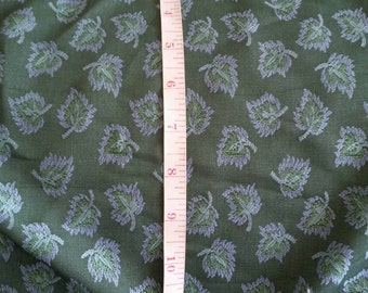 Vintage Laura Ashley blue and green  Upholstery Fabric
