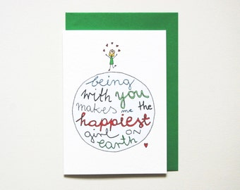 Anniversary card * boyfriend anniversary card * husband love card * anniversary cards for him * size a6 comes with green envelope