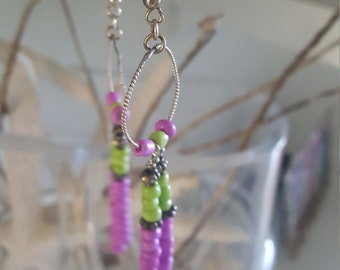 Earrings, Dangle 3 1/2 ""