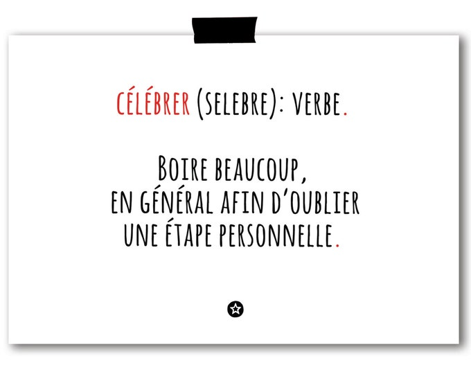 Card Definition of Celebrate in French