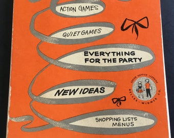 """Vintage, """"Let's give a Birthday Party, Spiral Book, By Gelles-Widner"""
