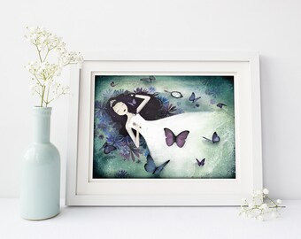 The Sleeping Beauty - Deluxe Edition Print - Whimsical Art