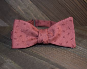 Red Floral Self Tie Bow Tie