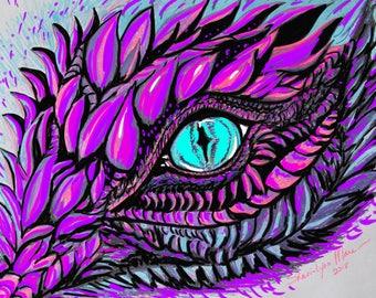 """Magic Dragons. Dragon Eye. 8.5"""" X 11"""" Limited Edition Print by Sheri-Lynn Marean"""