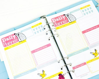 Daily Planner inserts - A5 Planner inserts - A5 filofax inserts - to do list - A5 planner refills - A5 daily inserts - daily planner pages