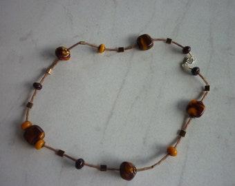 Murano glass bead, Choker necklace