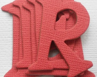 "RED -  Chipboard Alphabet Letters Die Cuts - 1.5"" tall"