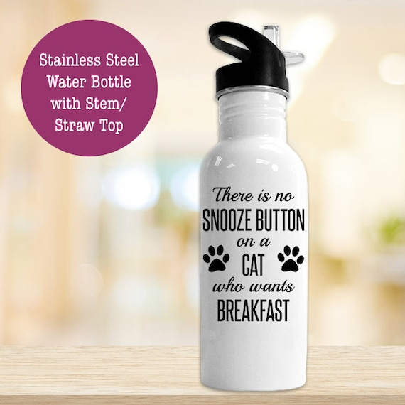 Stainless Steel Water Bottle - Funny Cat Owner - BPA Free Eco Friendly Water Bottle