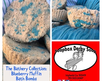 TWO Two-Packs of Blueberry Muffin Bath Bombs