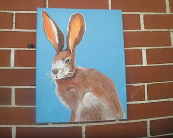Nursery Jack Rabbit Art, #1, 11 x 14