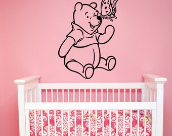 Winnie The Pooh Wall Sticker Vinyl Decal Disney Art Decorations for Home Kids Boys Girls Room Nursery Decor wtpo5