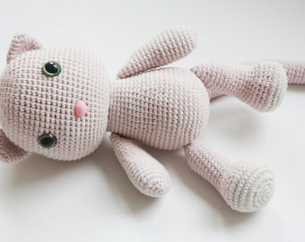 Amigurumi Crochet Cat Pattern - PDF Tutorial - Instant Download - Printable - In English