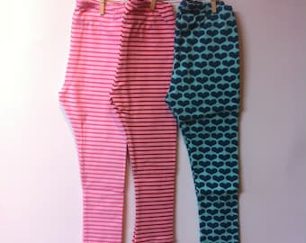 Baby, toddler, kleuterleggings various colors and prints, starting from mt62, 0-4years