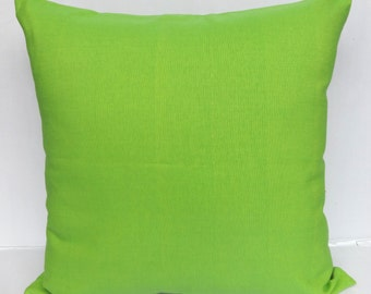 Apple  green  pillow. hand woven cotton pillow. tropical pillow. decorative cushion cover.  22 inch.  custom made.