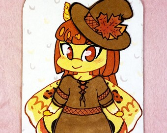 Io Moth Witch - Magnetic Paper Doll