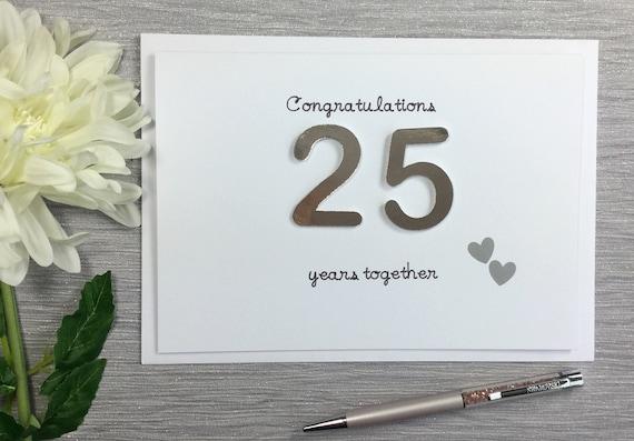 Th anniversary card silver wedding card silver