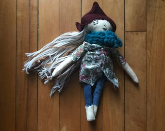 Waldorf inspired Rag Doll with accessories