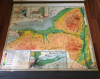 Sale - Vintage NYS Roller Map