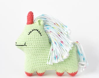 Ready-to-Ship Green Uni Queen Crochet Doll | Unicorn Doll, Unicorn Crochet, Unicorn Amigurumi