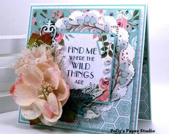 Find Me Where The Wild Things Are All Occasion Greeting Card Polly's Paper Studio Handmade