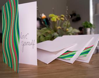 Handmade Inspiring Quote Cards