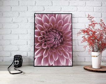 Poster print heart of the flower photography