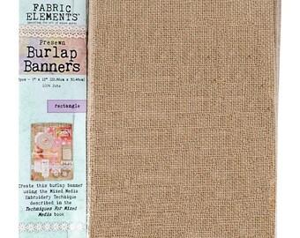 20% Off Flash Sale Fabric Elements 9X12 Burlap Banners | 3 Pieces