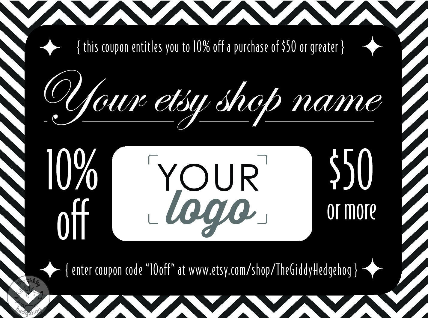 Elegant DIY Printable Coupon, Personal Coupon, Coupon Template ...