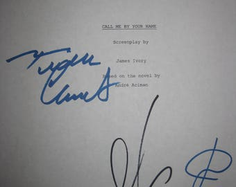 Call Me By Your Name Signed Film Movie Screenplay Script X3 Armie Hammer Luca Guadagnino Timothee Chalamet signature new oscar nominated