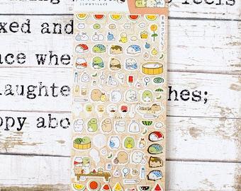 Sumikkogurashi Kawaii Stickers | Sumikkogurashi stickers set D  Life Planner, Daily Diary Journal decorations.