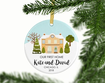 Our First Home Ornament | Personalized Christmas Ornaments | Mr and Mrs | Gift for Couples | Housewarming Gift | New Home Owners