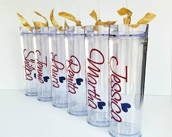 bachelorette party , acrylic tumbler - personalized tumbler - bridesmaid tumbler - wedding tumbler - bridal party gifts - 9 cups - party cup
