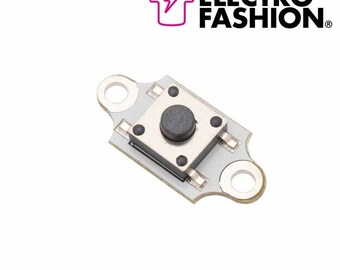 Electro-Fashion, Push Button Switch Sewable electronics e textiles e-textiles sewable switch