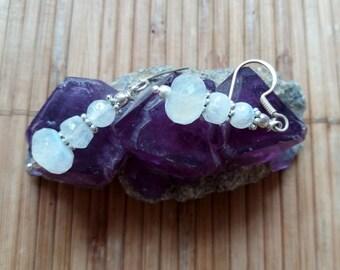 Moonstone faceted Earrings
