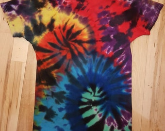 Boy/Girl Double spiral Tie Dye Shirt Size 10/12, , kids tie dye t-shirt, swirl Tie Dye shirt, boys tie dye shirt, girls tie dye shirt, kids