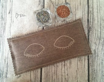 Eye Pillow Filled Organic Lavender and Flax Seeds /Sleep mask /Yoga / Calming /Sleep aid / Ready to ship / Aromatherapy / Mother's day gift