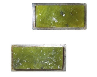 Green Marble Cuff Links
