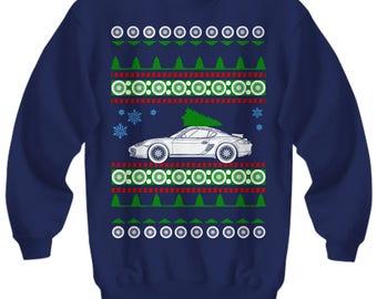 Porsche Cayman Ugly Christmas Sweater S GT4 Sweatshirt  holidays track car race boost cayman 911 p-car pca