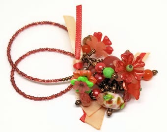 Mom Gift | Book Thong | Beaded Bookmark | Autumn Gift | Flower Theme