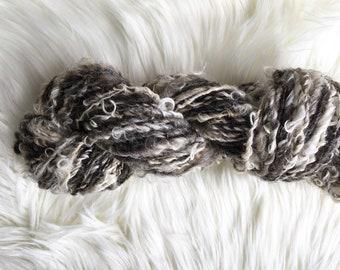 Farm Fresh Art Yarn, Natural Leicester Longwool Handspun Yarn