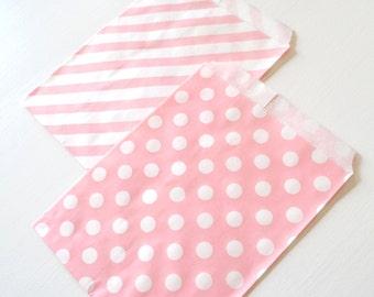 "25PK - Light Pink 5"" X 7"" Treat Bags // Party Favor // Paper Bag"