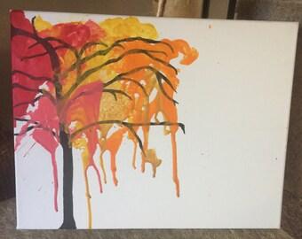 Crayon Art Tree